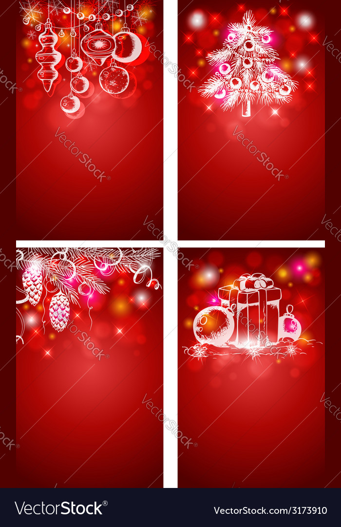 Red christmas vertical backgrounds vector | Price: 1 Credit (USD $1)