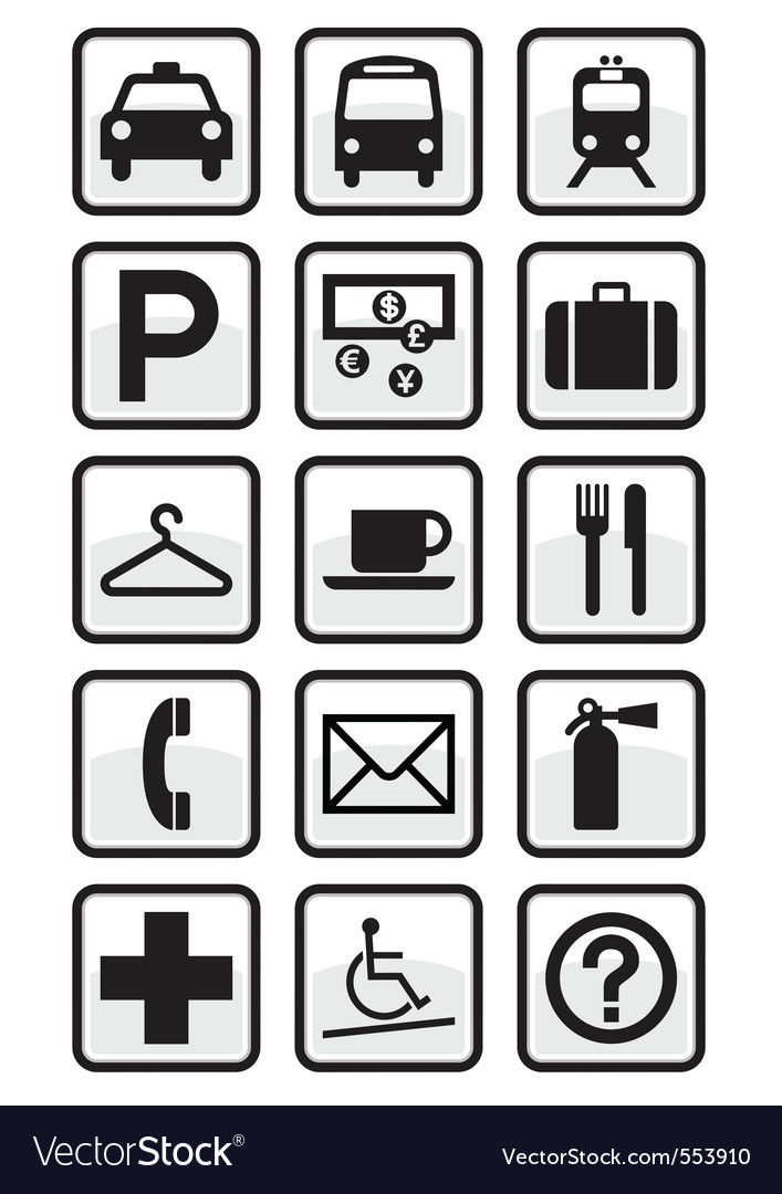 Service signs vector | Price: 1 Credit (USD $1)