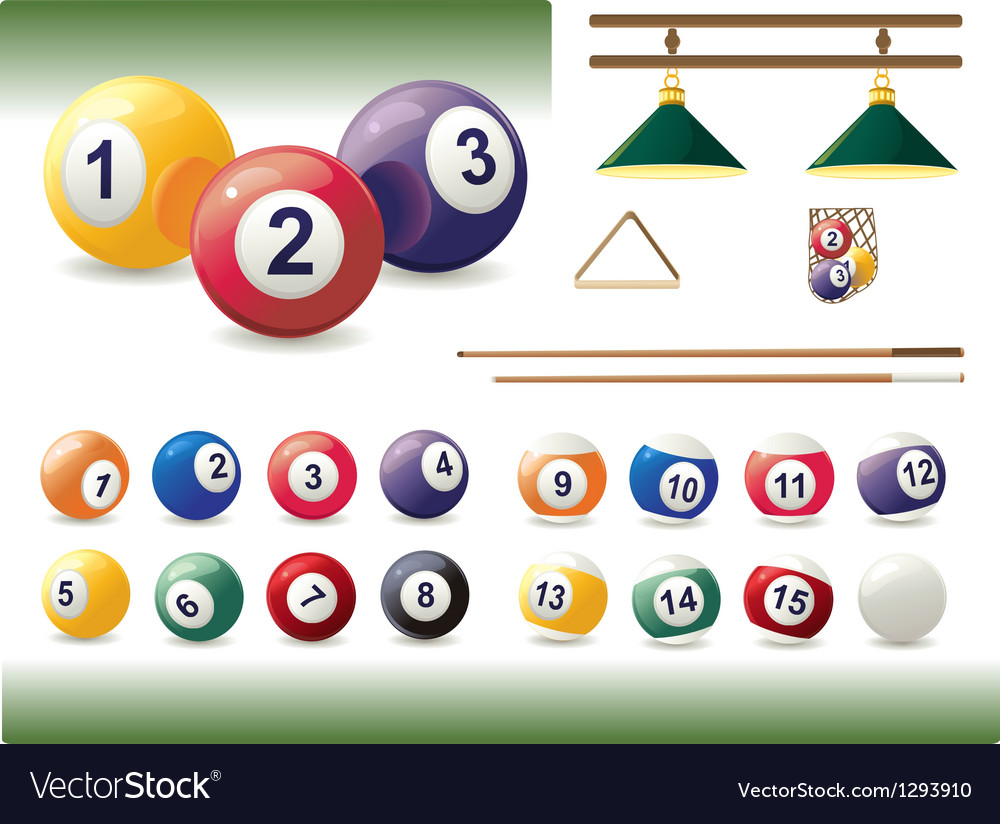 Set of billiard accessories vector | Price: 1 Credit (USD $1)