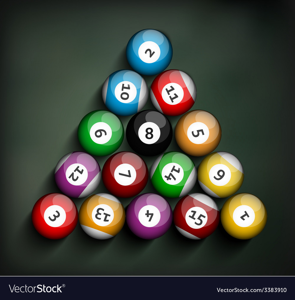 Set of billiard balls vector | Price: 1 Credit (USD $1)