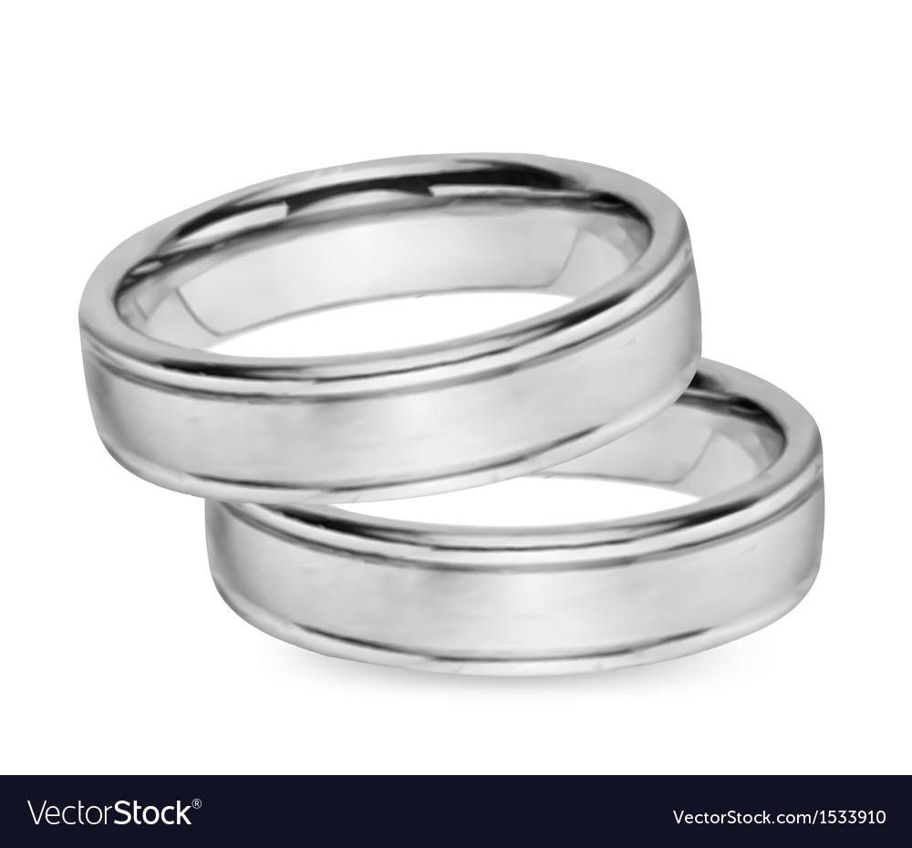 Wedding white gold rings vector | Price: 1 Credit (USD $1)