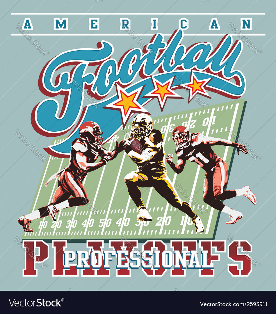American football playoff vector | Price: 3 Credit (USD $3)