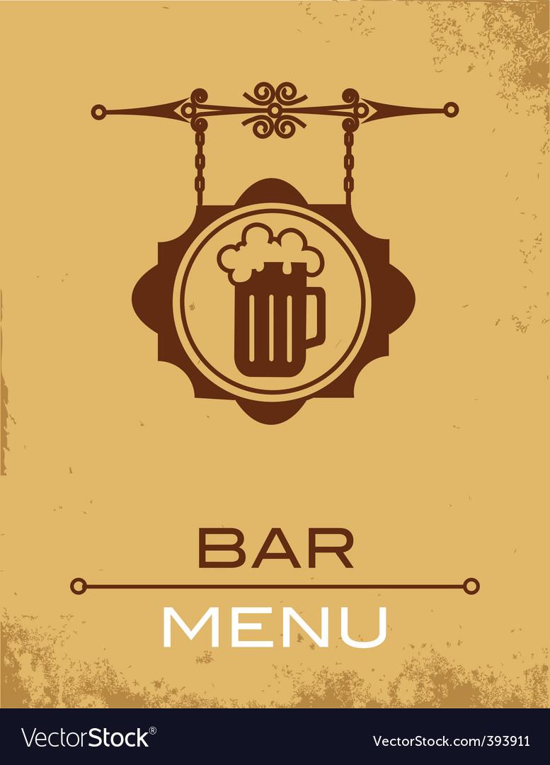 Bar menu vector   Price: 1 Credit (USD $1)