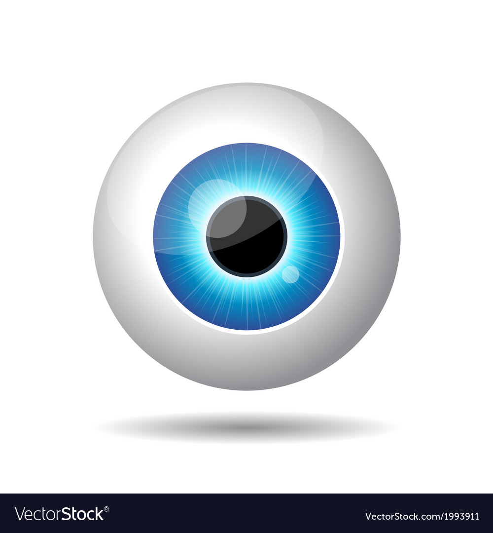 Blue eye on white background vector | Price: 1 Credit (USD $1)