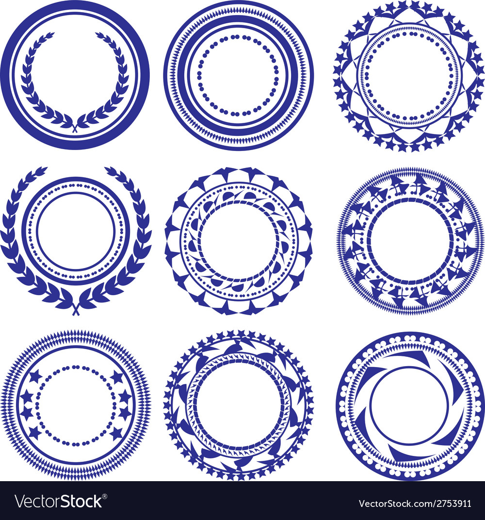 Circle elements pattern vector | Price: 1 Credit (USD $1)