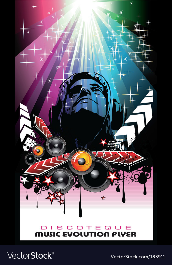 Disco music evolution vector | Price: 3 Credit (USD $3)