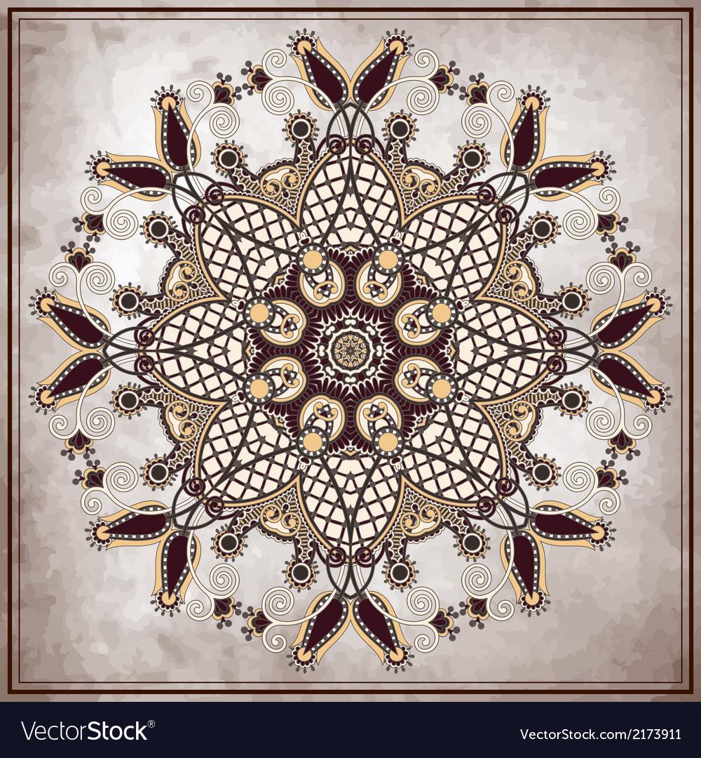 Flower circle design on grunge background vector   Price: 1 Credit (USD $1)
