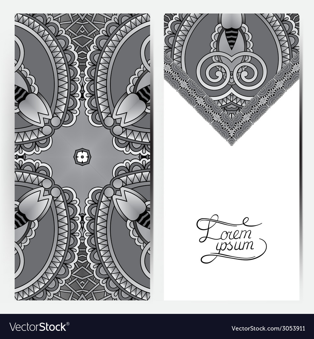 Grey decorative label card for vintage design vector   Price: 1 Credit (USD $1)