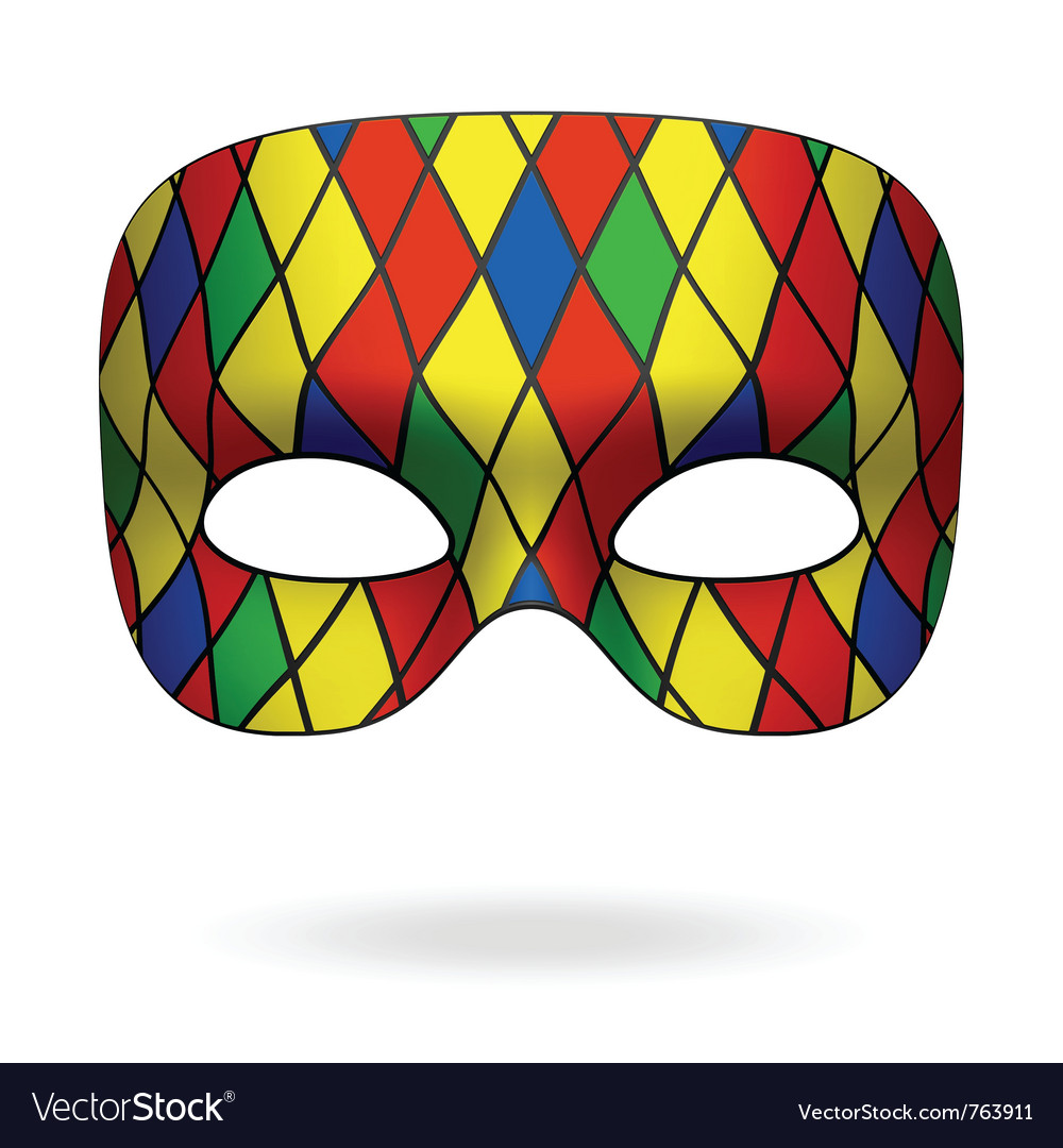 Harlequin mask vector | Price: 1 Credit (USD $1)