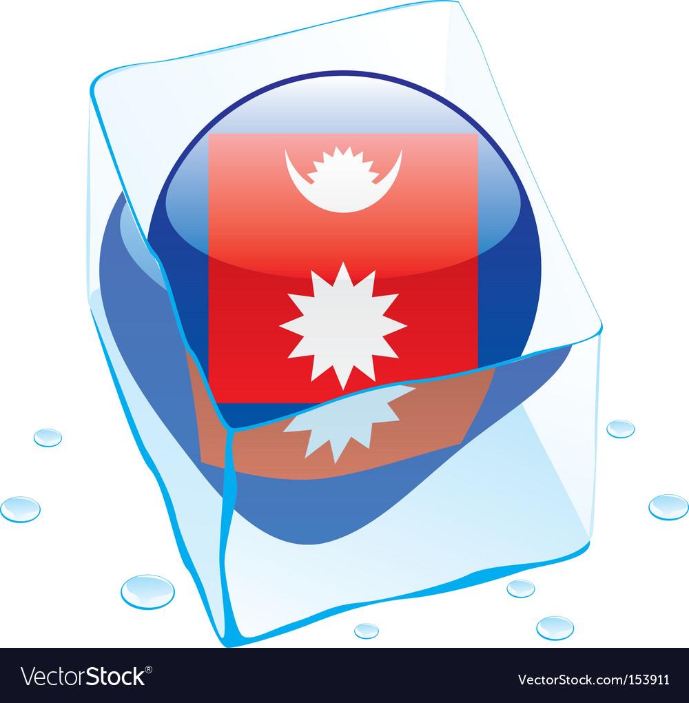 Nepal flag vector | Price: 1 Credit (USD $1)