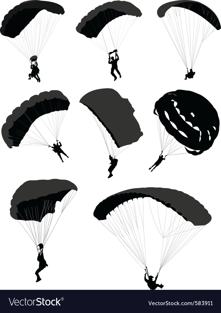 Parachutes vector | Price: 1 Credit (USD $1)