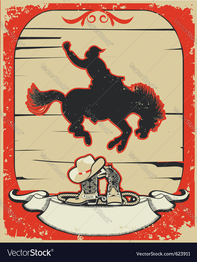 Rodeo cowboy vector | Price: 1 Credit (USD $1)