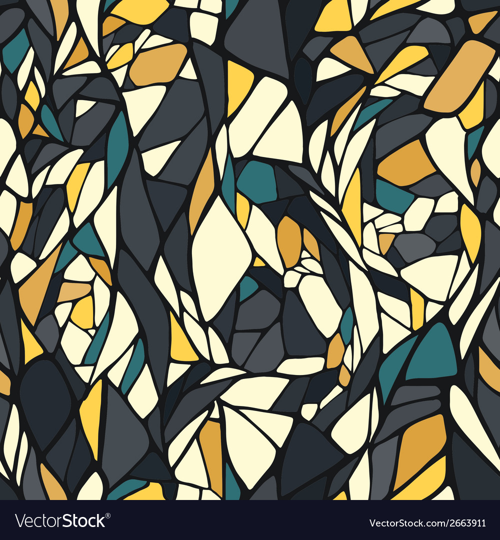 Seamless pattern with abstract ornament vector | Price: 1 Credit (USD $1)