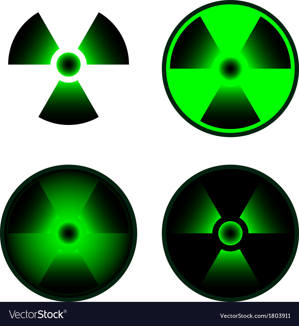 Signs of radiation vector | Price: 1 Credit (USD $1)