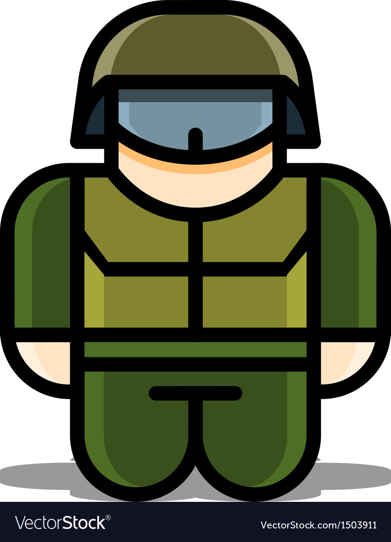 Soldier toy icons vector | Price: 1 Credit (USD $1)