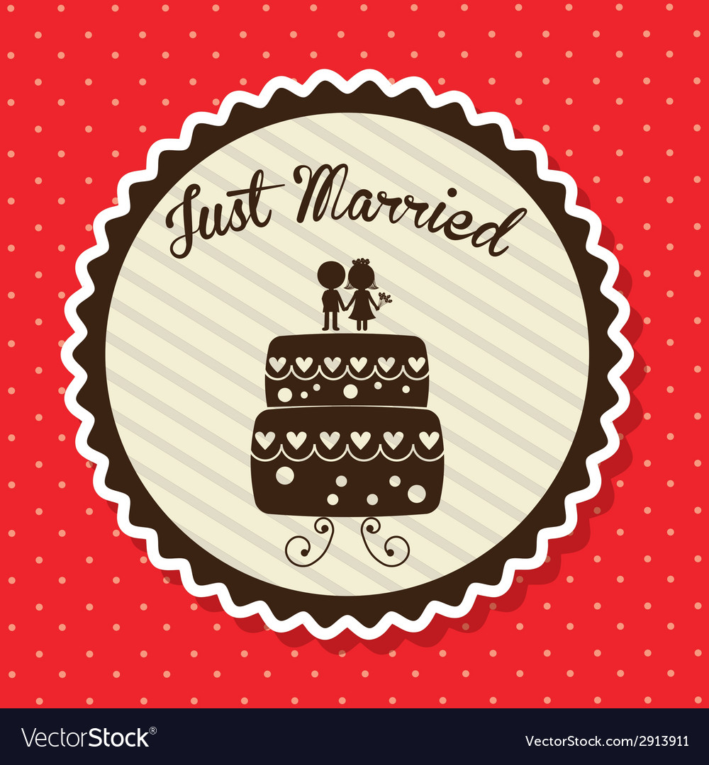 Wedding label vector | Price: 1 Credit (USD $1)