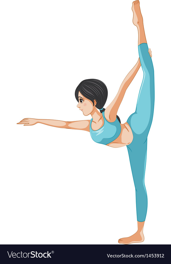 A girl stretching her body vector | Price: 1 Credit (USD $1)