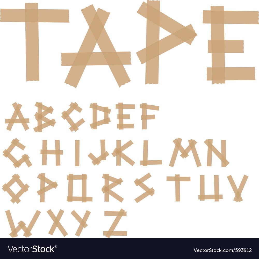 Adhesive tape alphabet vector | Price: 1 Credit (USD $1)