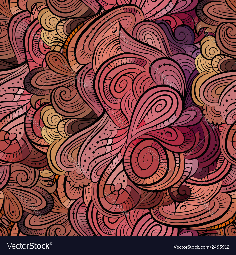 Beautiful decorative floral pattern vector | Price: 1 Credit (USD $1)