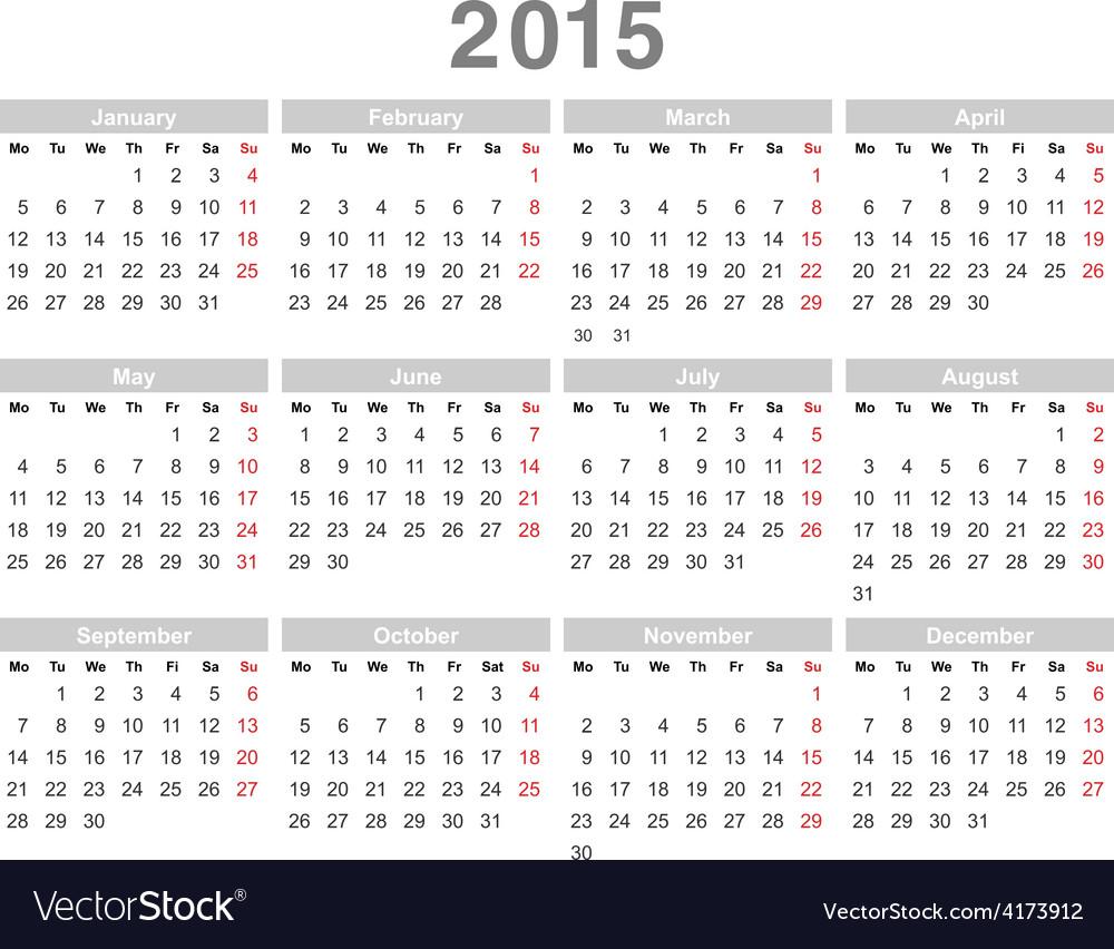 Calendar 2015 03 vector | Price: 1 Credit (USD $1)