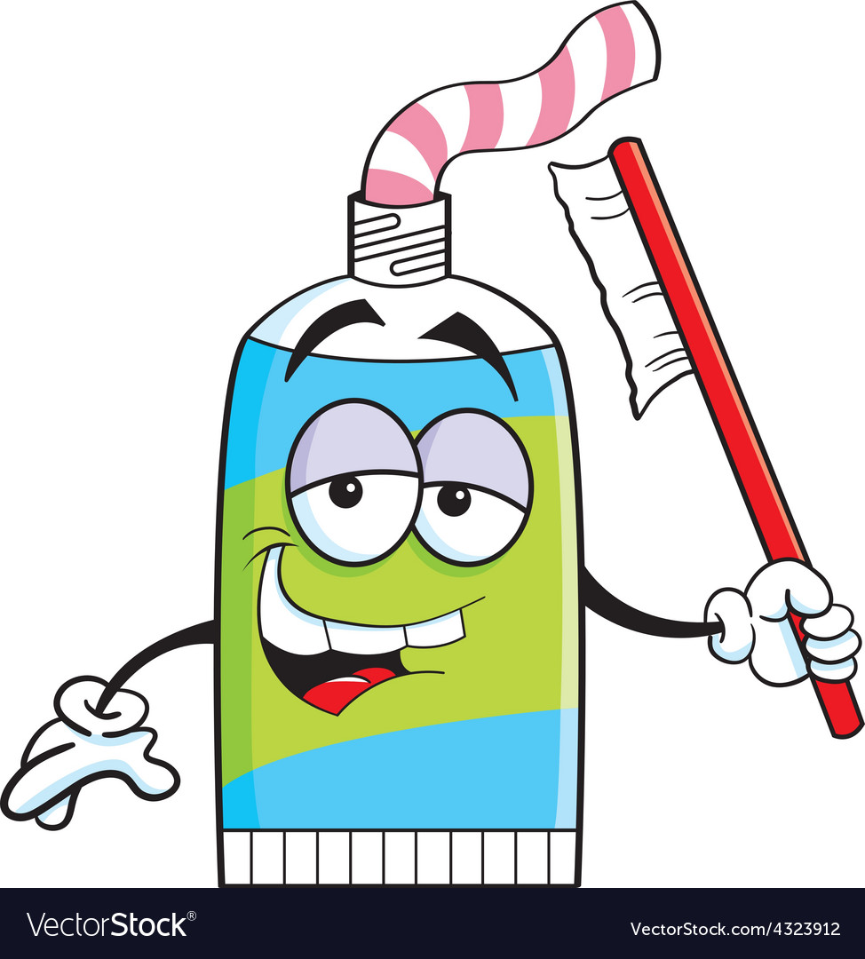 Cartoon tube of toothpaste vector | Price: 1 Credit (USD $1)