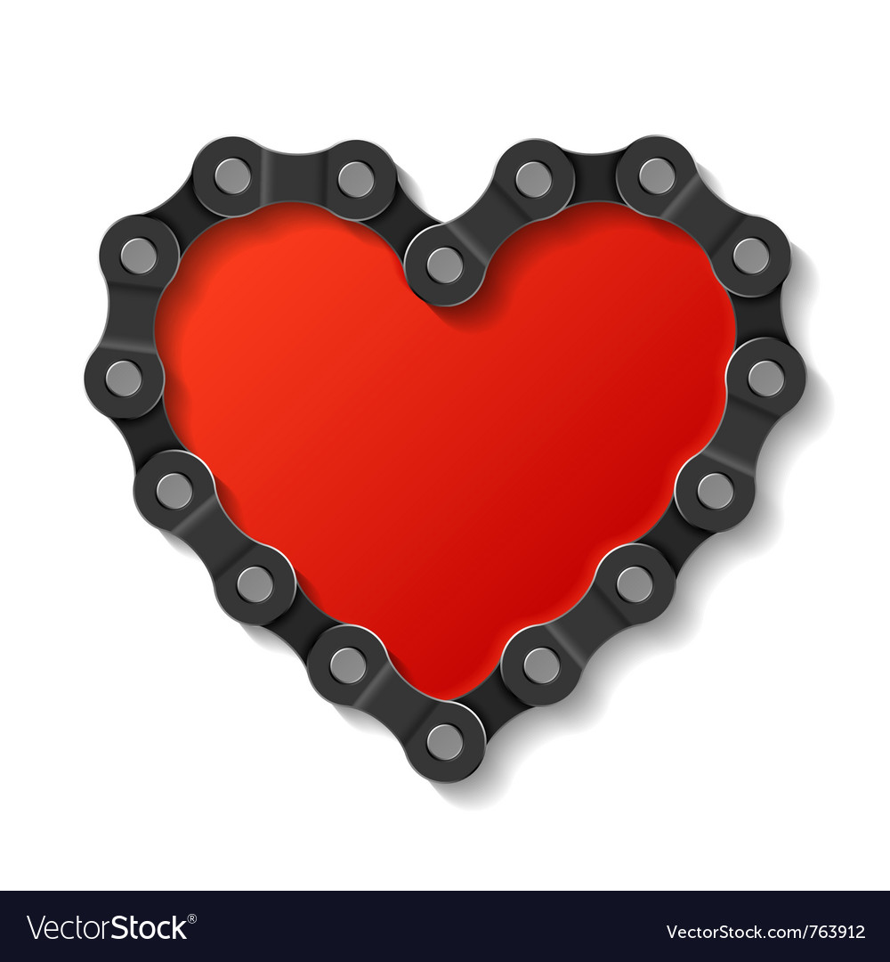 Heart made of chain vector | Price: 3 Credit (USD $3)