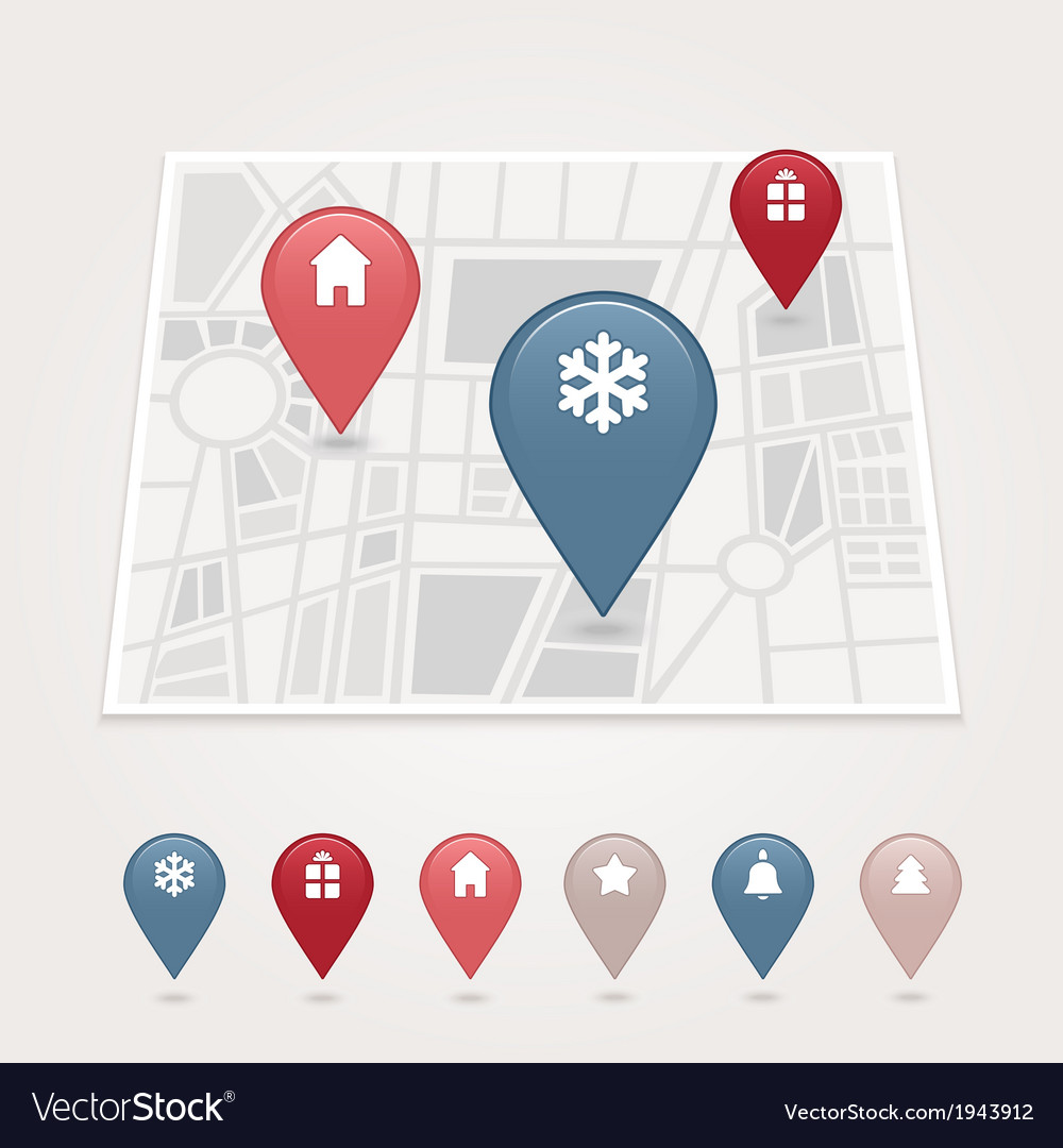 Mapping pins icon vector | Price: 1 Credit (USD $1)