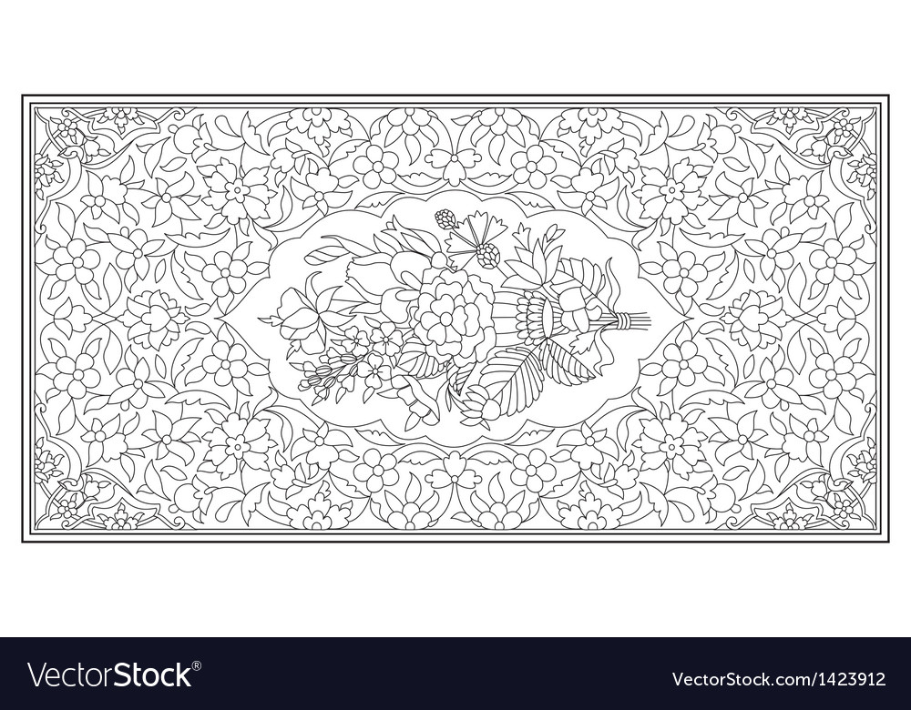 Ottoman art of illumination vector | Price: 1 Credit (USD $1)