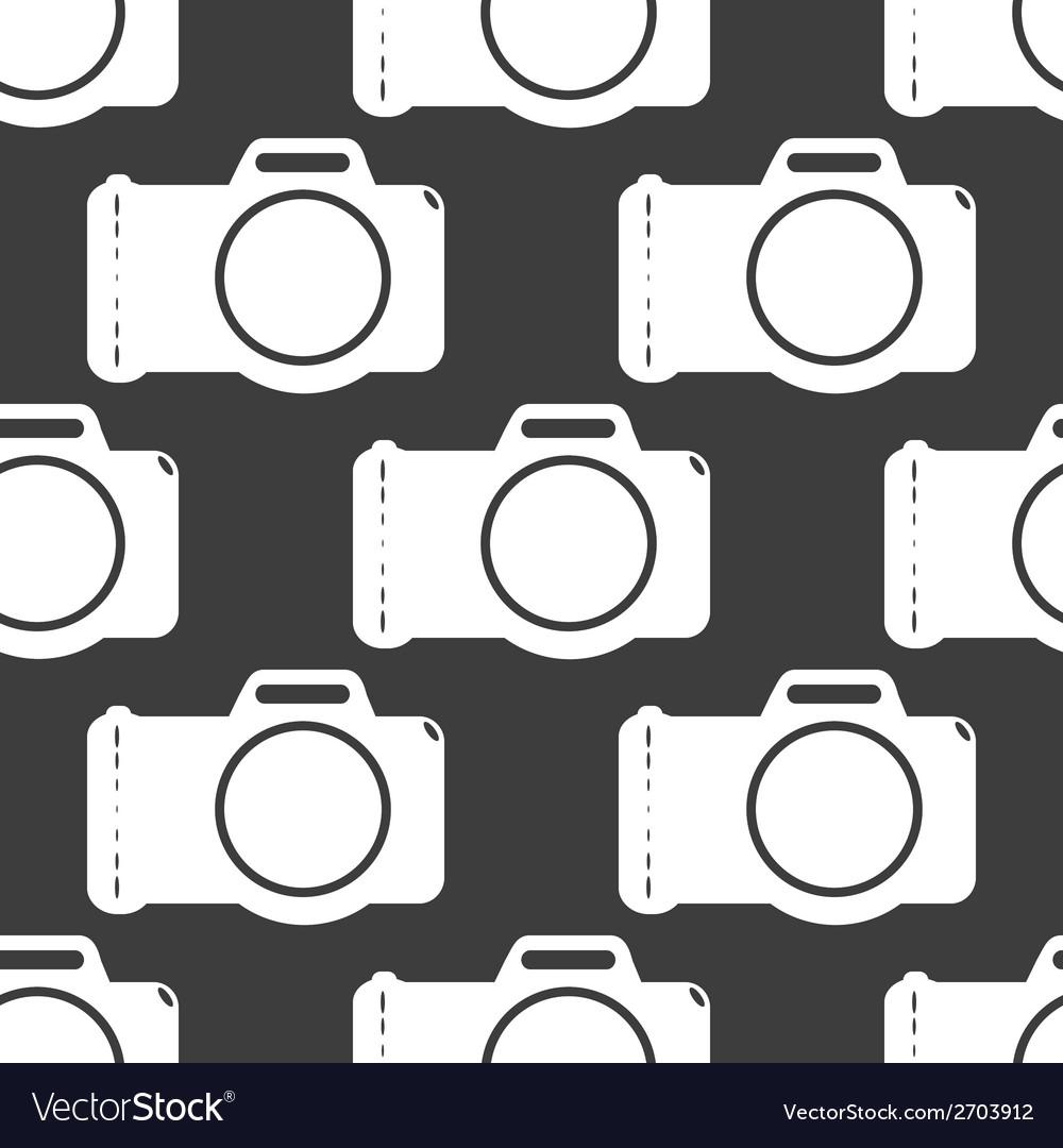Photo camera web icon flat design seamless gray vector   Price: 1 Credit (USD $1)