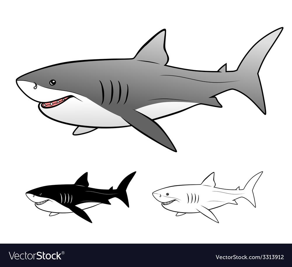 White shark vector   Price: 1 Credit (USD $1)