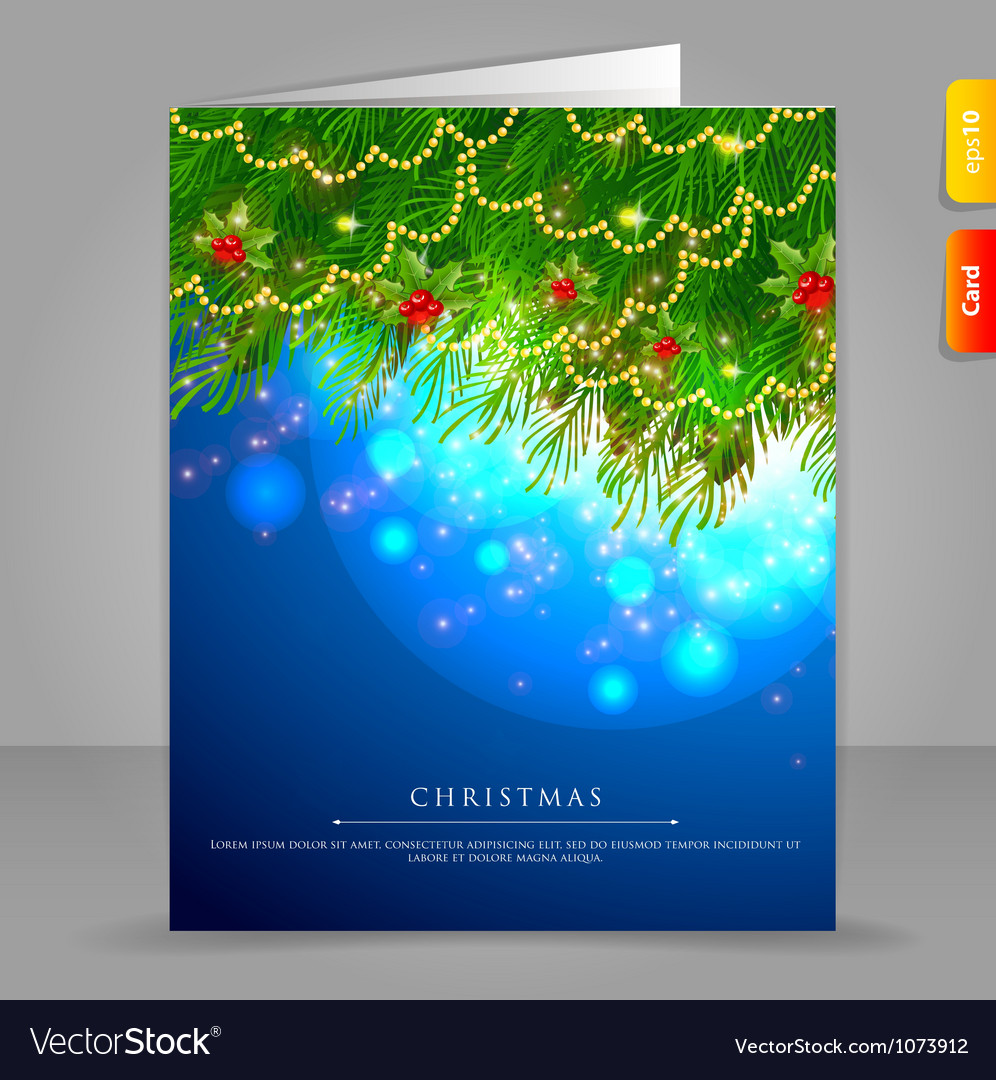 Xmas card branch vector | Price: 1 Credit (USD $1)