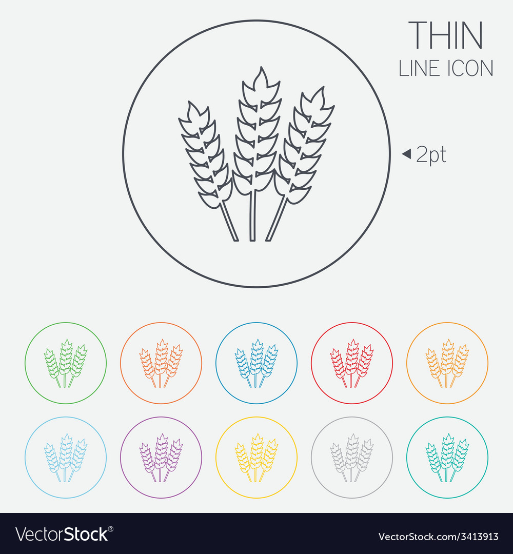 Agricultural sign icon gluten free or no gluten vector | Price: 1 Credit (USD $1)