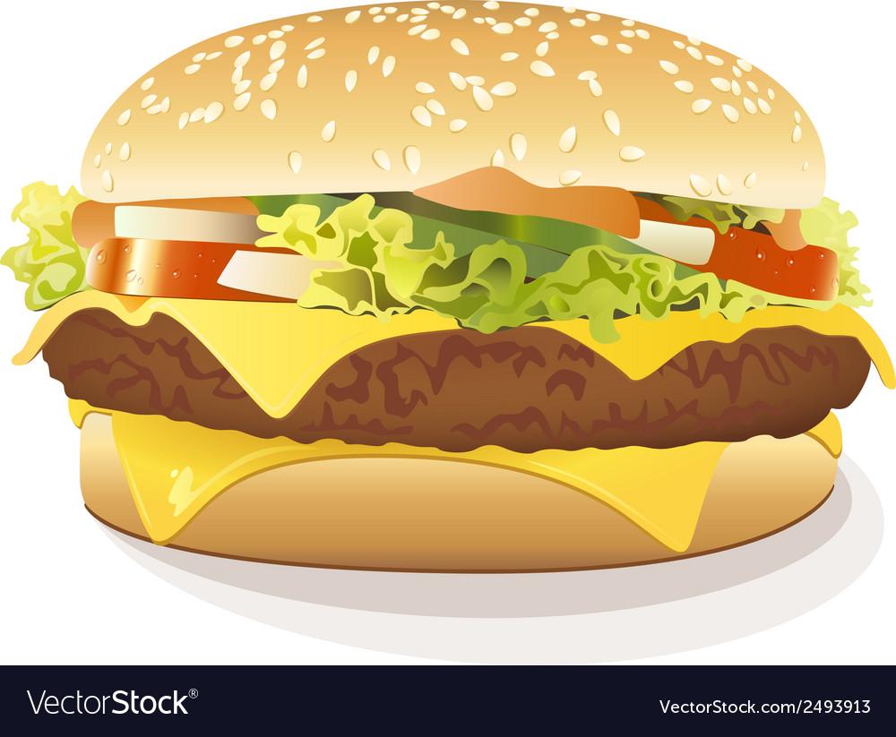 Cheeseburger vector | Price: 1 Credit (USD $1)