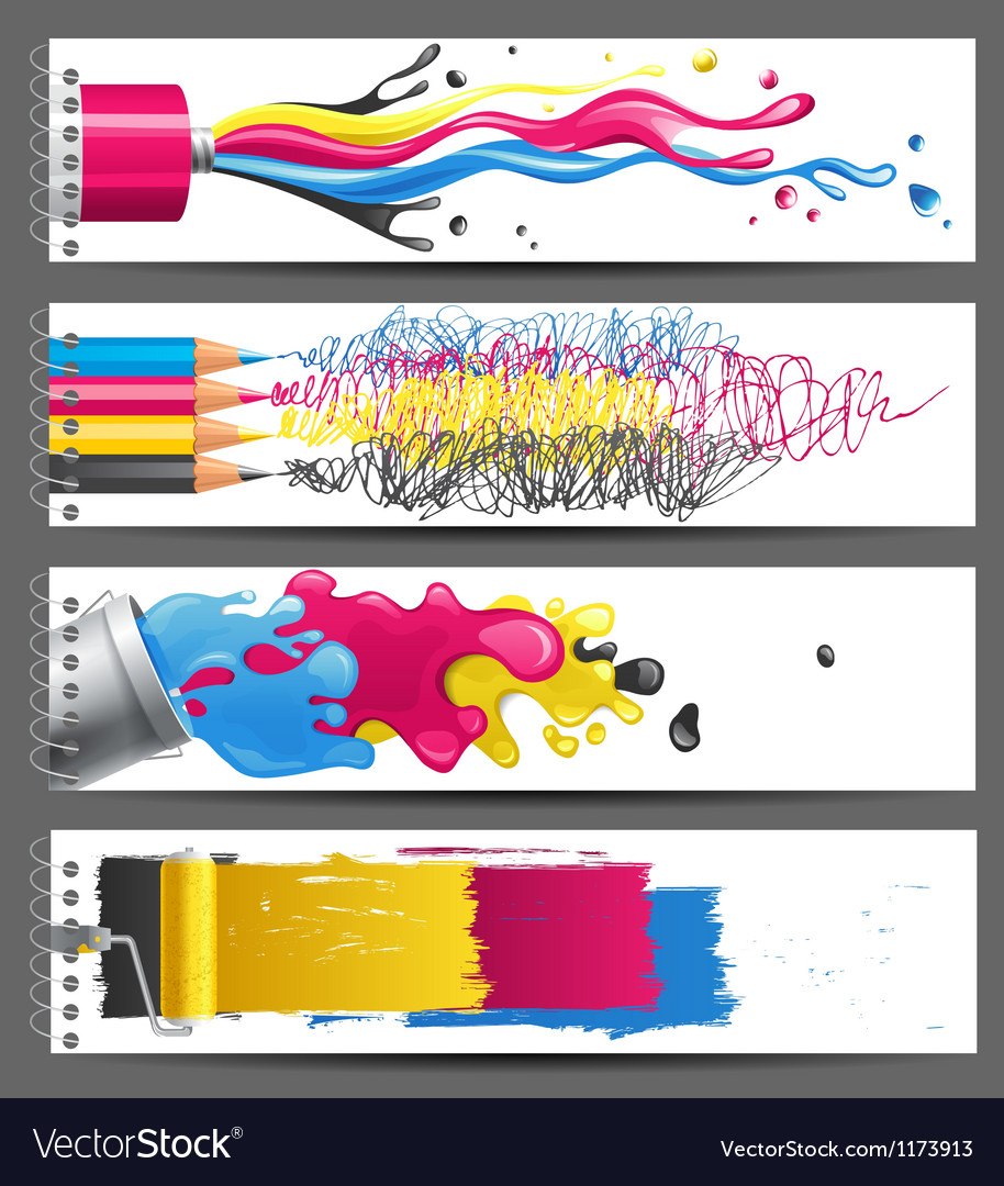Cmyk banners vector | Price: 3 Credit (USD $3)