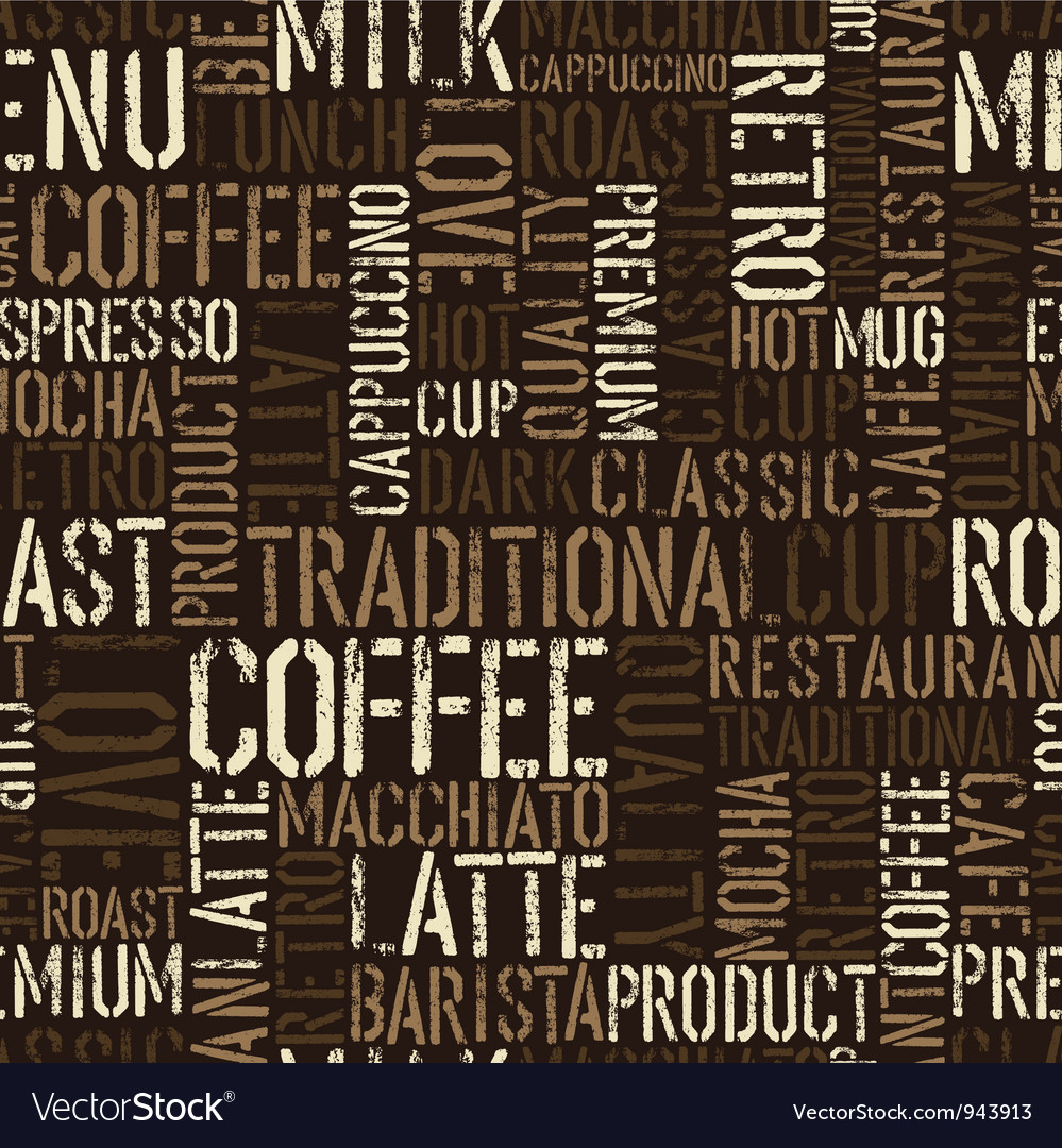 Coffee words background vector | Price: 1 Credit (USD $1)