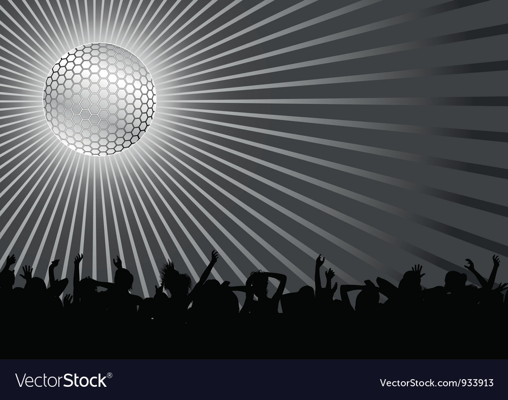 Dancing crowd vector | Price: 1 Credit (USD $1)
