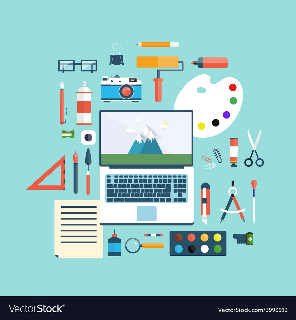 Designer workspace vector | Price: 1 Credit (USD $1)