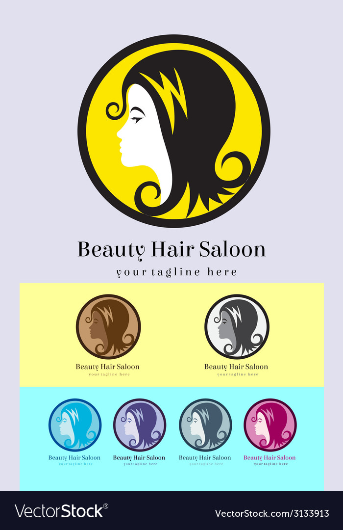 Hair saloon logo vector | Price: 1 Credit (USD $1)