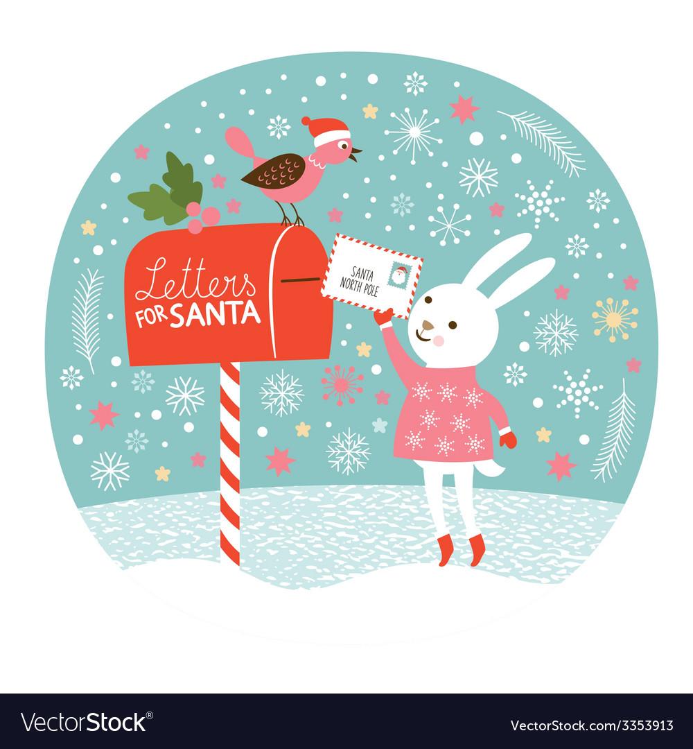 Letter for santa vector | Price: 1 Credit (USD $1)