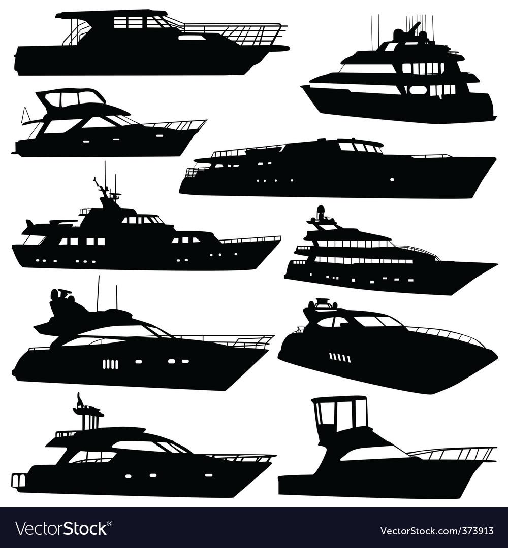 Motor yacht vector | Price: 1 Credit (USD $1)