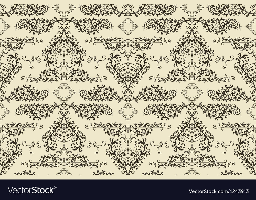 Seamless vintage floral pattern vector | Price: 1 Credit (USD $1)