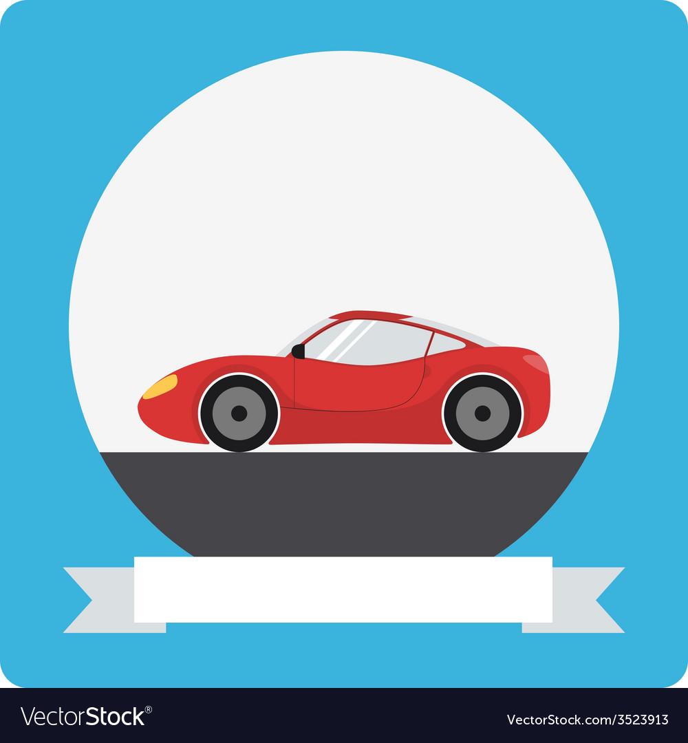 Sports car icon vector | Price: 1 Credit (USD $1)