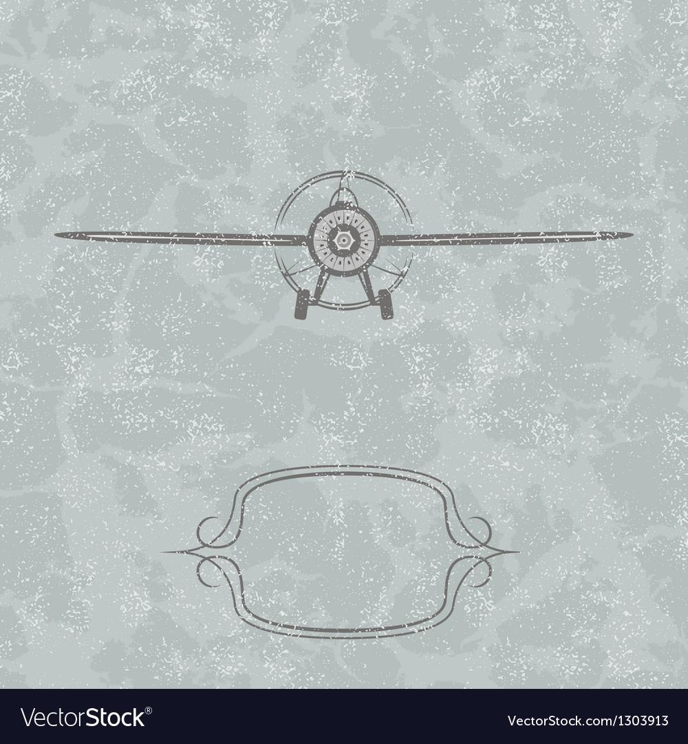 Vintage plane background vector | Price: 1 Credit (USD $1)