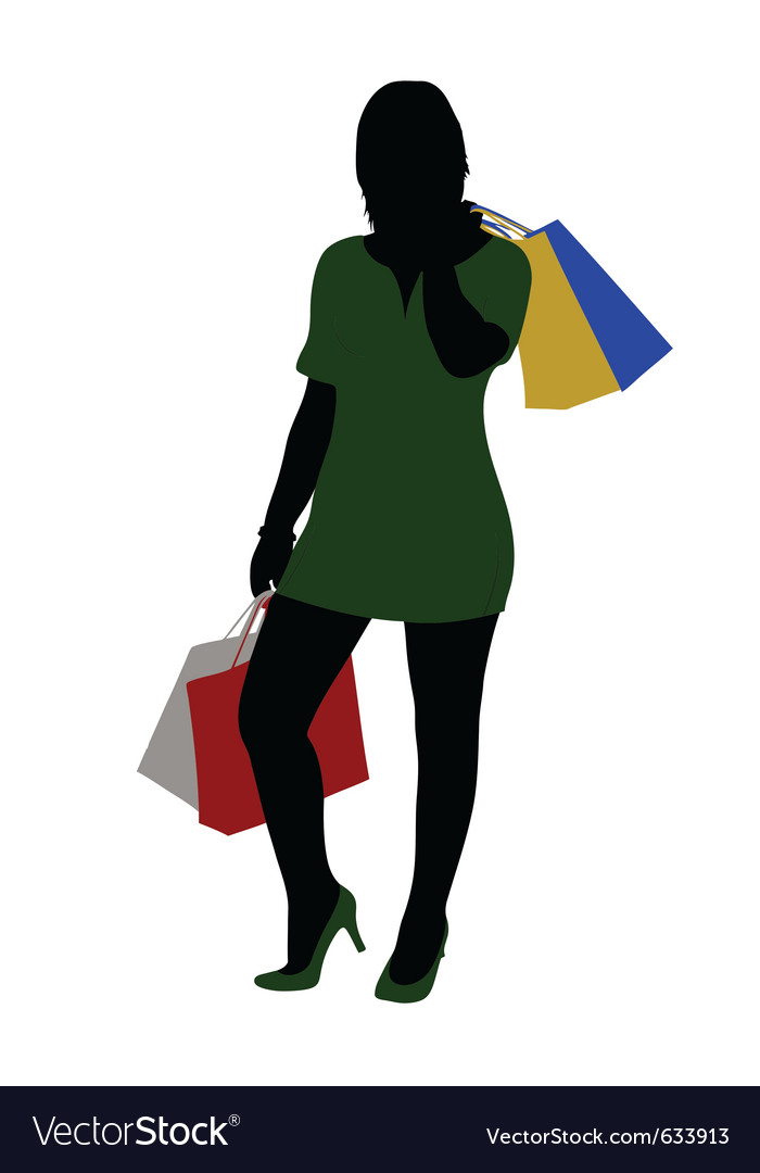 Woman shopping vector   Price: 1 Credit (USD $1)