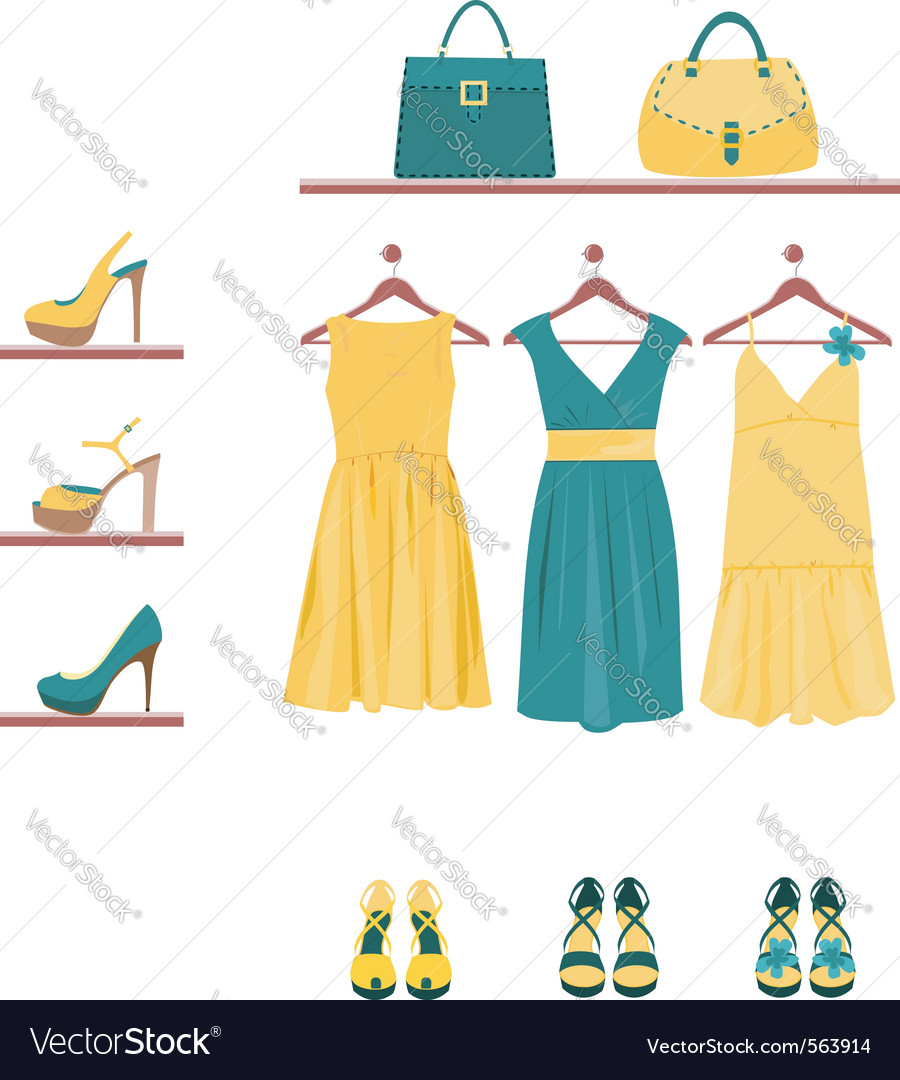 Fashion items vector | Price: 1 Credit (USD $1)