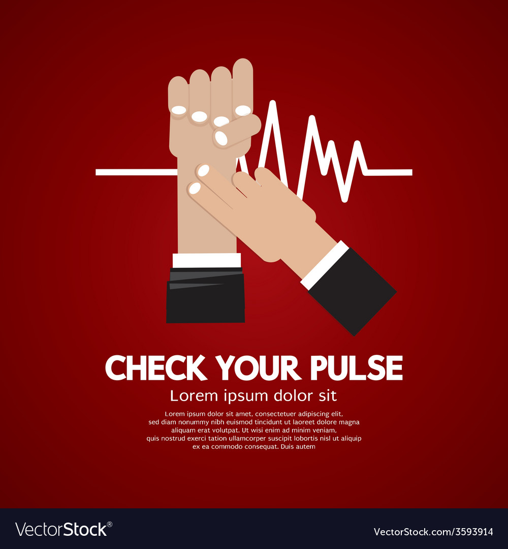 Fingers checking pulse medical concept vector | Price: 1 Credit (USD $1)