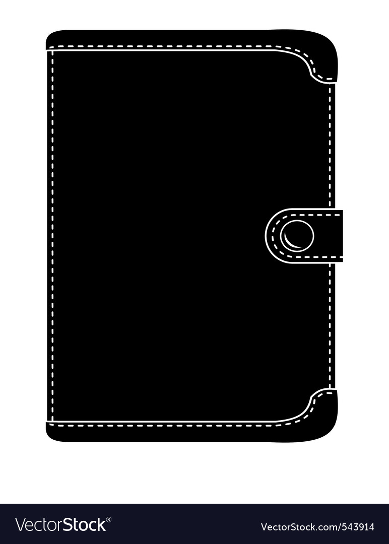 Leather wallet vector | Price: 1 Credit (USD $1)