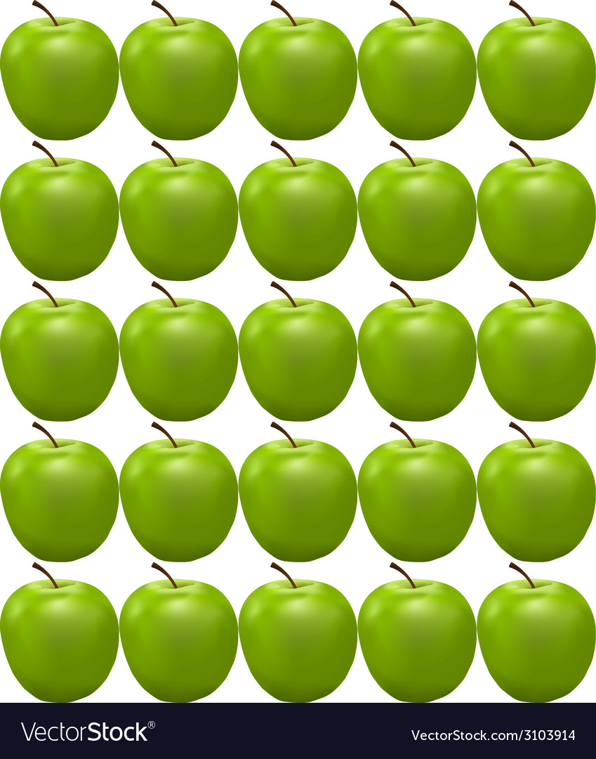 Seamless pattern with green apple vector | Price: 1 Credit (USD $1)