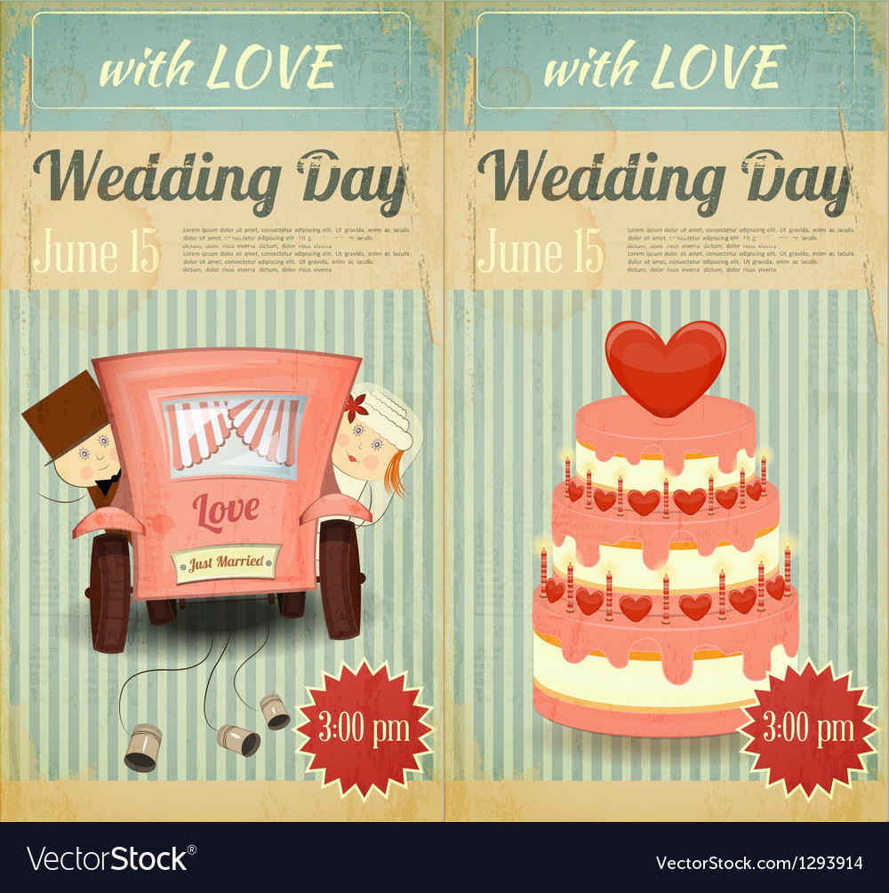 Set of wedding invitation vector | Price: 3 Credit (USD $3)
