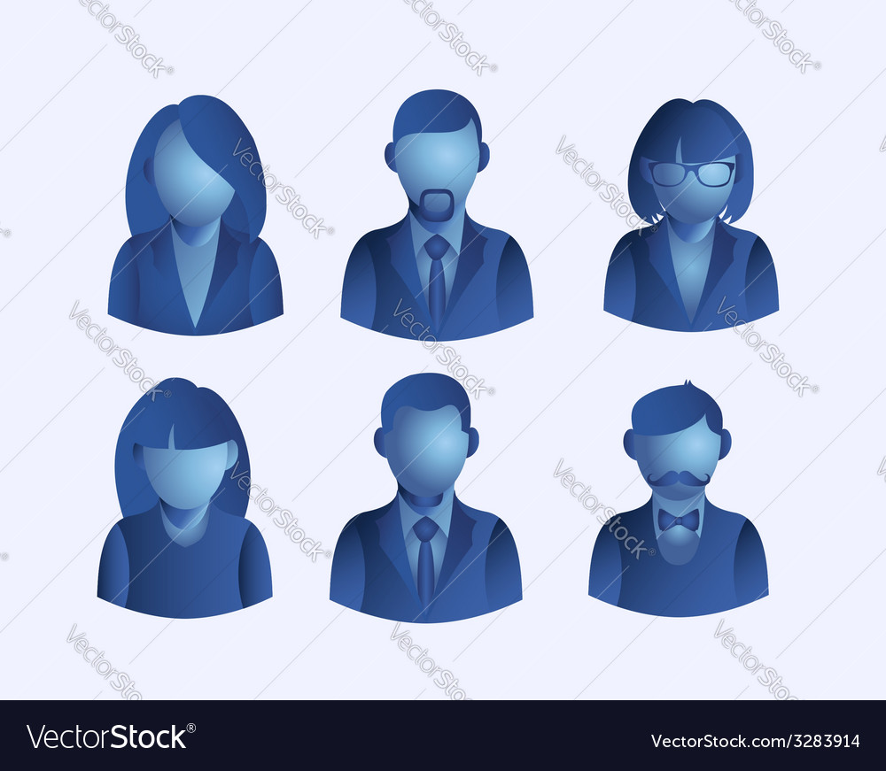 Social media people user icons set vector | Price: 1 Credit (USD $1)